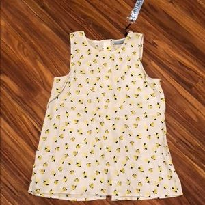 NWT white linen top with lemons